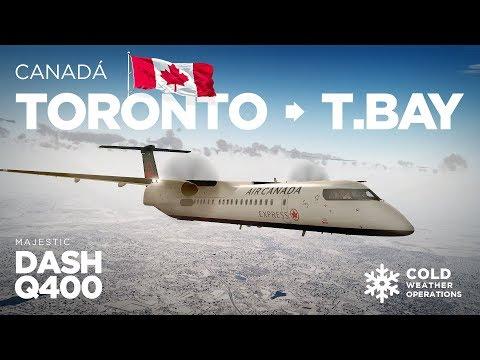 Prepar3Dv4 - Dash-8 Q400 / Toronto → Thunder Bay