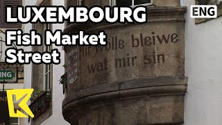 【K】Luxembourg Travel[룩셈부르크 여행]옛 생선시장 골목/Fish Market Street/Alley/House
