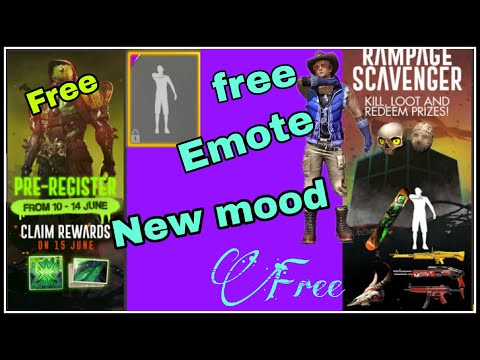 Free Emote Free gun skin and new rampage mood||NooB gaming world