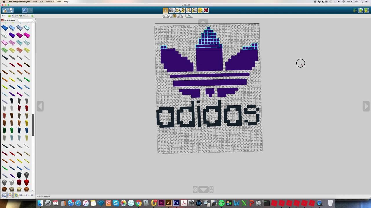 Lego Adidas Logo Pixel Art Challenge Youtube