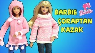 Barbie Kazak Yapımı - DIY - Kendin Yap Çoraptan Kolay Barbie Kıyafetleri - Bidünya Oyuncak