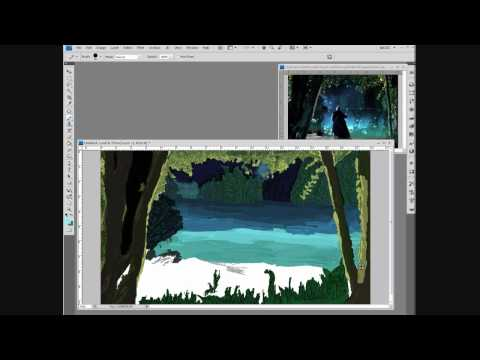 Photoshop Speed Drawing - A Merlin Scene...