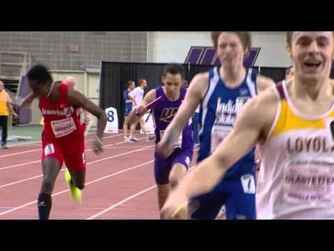 UNI Track and Field at MVC Championships - men's 4x400 Marshall Hill