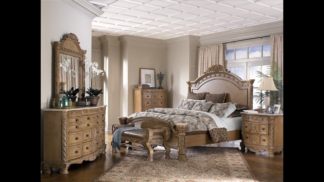 Ashley furniture bedroom sets king youtube - Ashley furniture bedroom packages ...