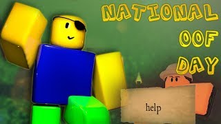 ITS NATIONAL OOF DAY | Roblox Gameplay + Voice