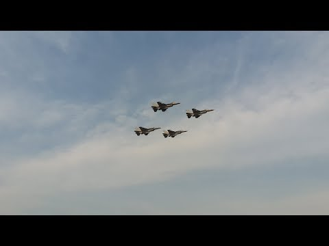 RTAF F-16 Dogfight & Ground Attack | EC-725 SAR | AU-23 Fly By @ Children's day 2018