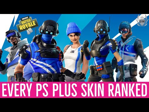 RANKING EVERY PLAYSTATION PLUS CELEBRATION PACK SKIN FROM WORST TO BEST! RANKING PS PLUS SKINS!