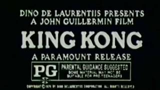 King Kong 1976 TV trailer