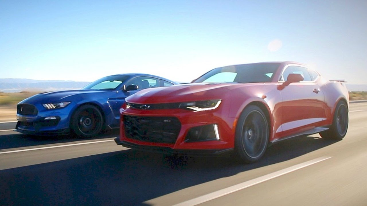 2017 Ford Mustang Shelby Gt350r Vs 2017 Chevy Camaro Zl1