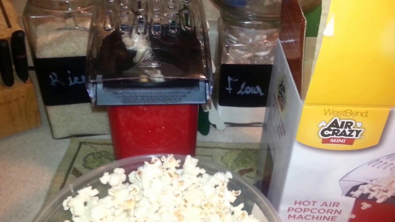Air Crazy Mini Popcorn Maker Youtube