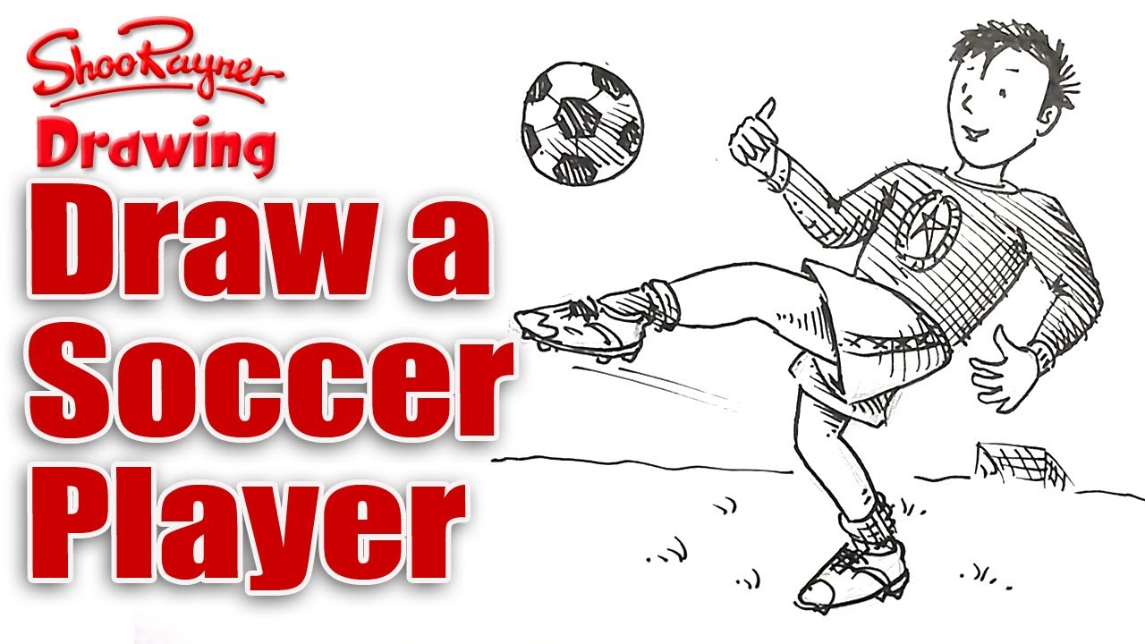 How To Draw A Soccer Player Realtime Spoken Tutorial Youtube