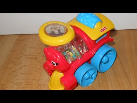 Fisher-Price Brilliant Basics Poppity Pop Baby Train Toy