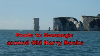 Poole Quay to Swanage around Old Harry Rocks - on a sunny day in October