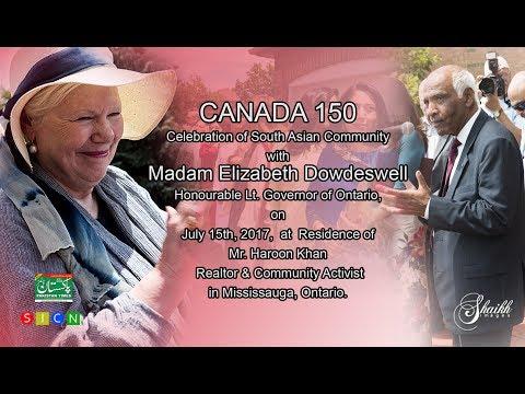 CANADA 150 CELEBRATION OF S ASIAN COM. WITH LT. GOV. ELIZABETH DOWDESWELL