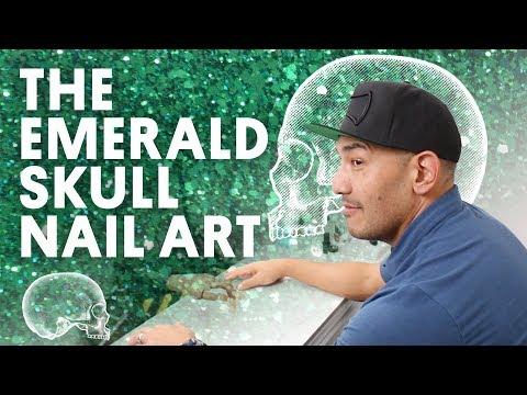 THE EMERALD SKULL NAIL ART (ACRYLIC NAIL) - VLOG 69