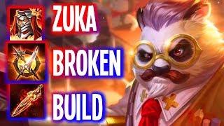 AOV: ZUKA BEST BUILD FOR RANKED PUSH  (ROV)   Arena of Valor Zuka Build