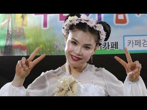 💗 품바여왕 버드리💗 동학사 벚꽃축제2017년4월8일[야간]  사상최고기록 웃음대박  버드리님 단상 쓰러져 누워있는 장면 최선을 다한 공연