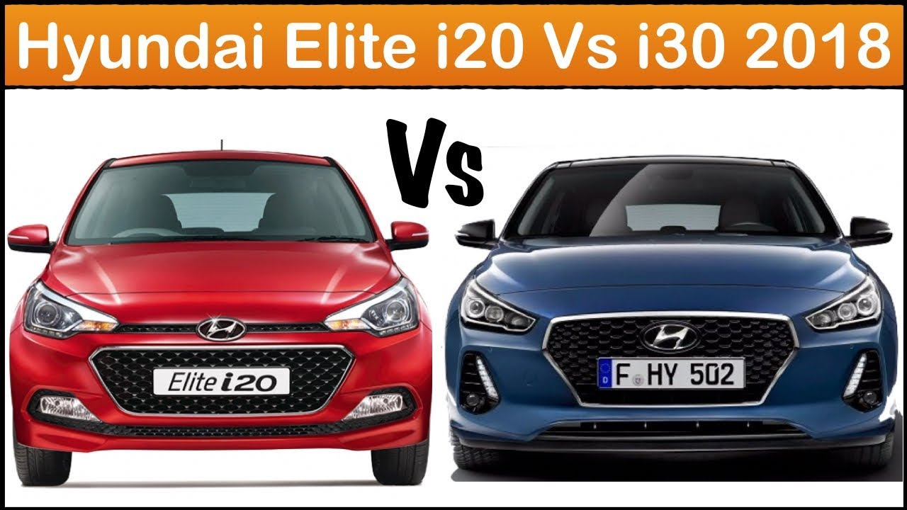 hyundai i20 vs i30 2018 full comparison youtube. Black Bedroom Furniture Sets. Home Design Ideas