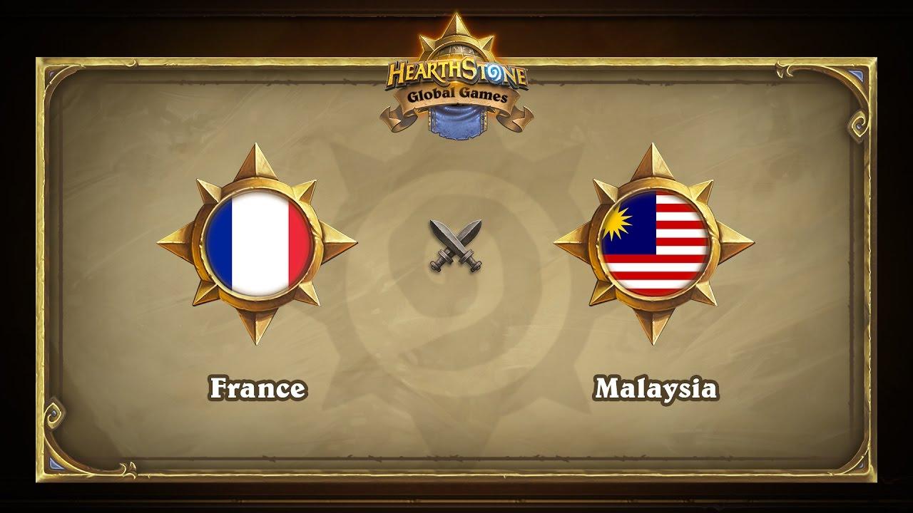 Франция vs Малайзия | France vs Malaysia | Hearthstone Global Games (16.05.2017)