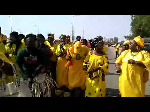 The welcoming of lawyer ousainu Darboe 2019