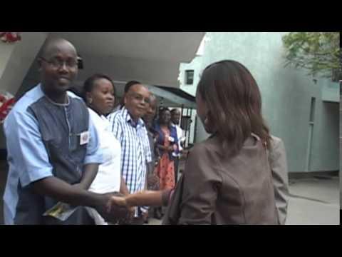 Chief Guest janet Mbugua arrives at Loreto m2t