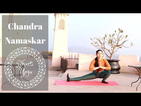 Chandra Namaskar | Step by Step Moon Salutation | Bharti Yoga