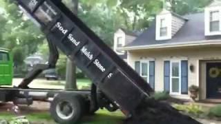 Dumptruck Dumping Mulch in My Yard
