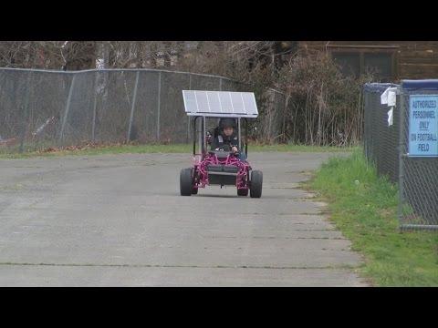 Hampton students build solar-powered go-kart