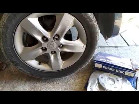 Как заменить тормозные диски на Киа Сид