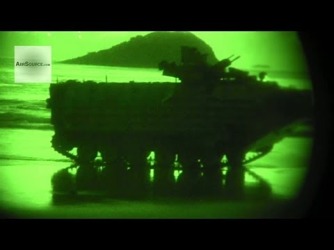 Night Vision Footage - U.S.Marine Amphibious Operations. Queensland, Australia.