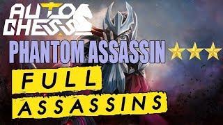 Dota Auto Chess - Full Assassin Phantom Assassin 3 star - Rook Gameplay - Auto Chess 20