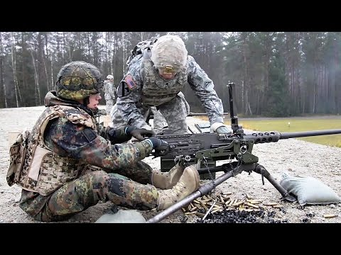 U.S. & German Soldiers Working Together - Weapons Familiarization Range