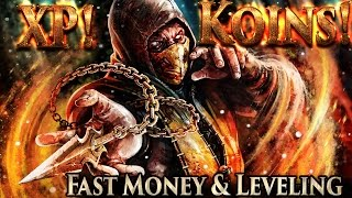 Mortal Kombat X - Crazy Money Glitch & XP Tips (Koins + Rank Up)