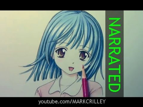draw anime hair coloring