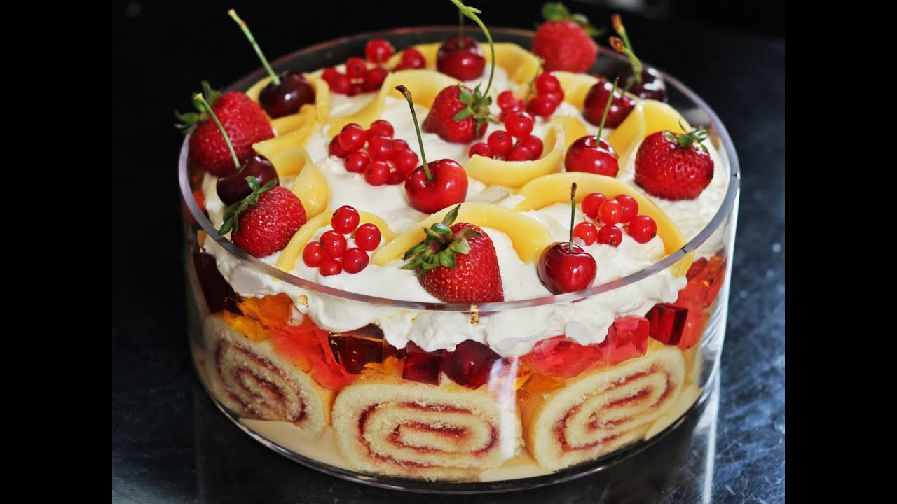 Essensideen Schnell Fruit Trifle Recipe How To Make Tasty Food Trifle With