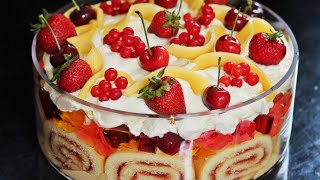 Fruit Trifle Recipe   How to Make Tasty Food Trifle with Tasty Recipe