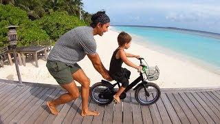 LEARN TO RIDE A BIKE in the Maldives - Soneva Fushi