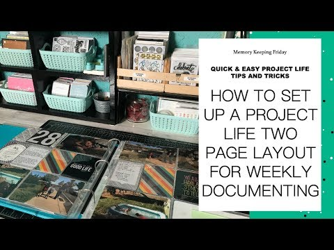 Project Life Tip   How To Put Together A Weekly Layout
