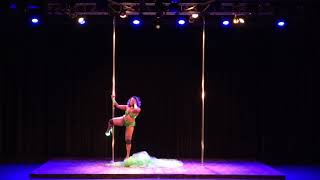 2018 US Pole Dance Championship Novice Level 1 Sexy Division - Librarian Shimmy
