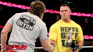 John Cena declares Daniel Bryan the legitimate WWE Champion: Raw, August 19, 2013