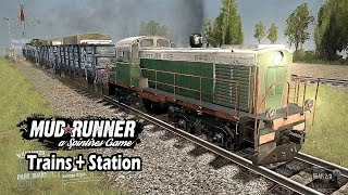 Spintires Mudrunner Offroading with Trains | Trains with Tracks