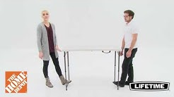 4 FT Adjustable Table Demo Home Depot