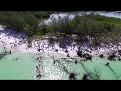 Drone footage of Beer Can Island in Longboat Key, FL