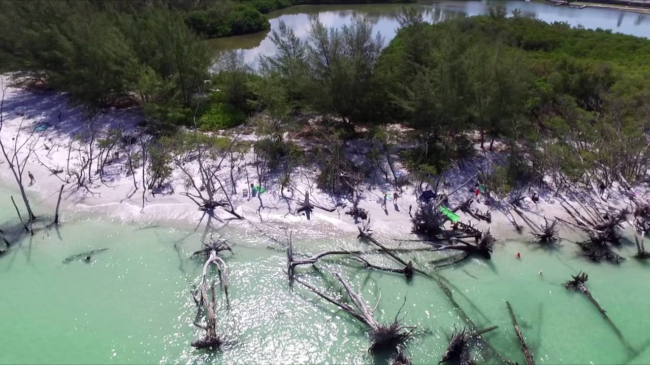 Drone Footage Of Beer Can Island In Longboat Key Fl