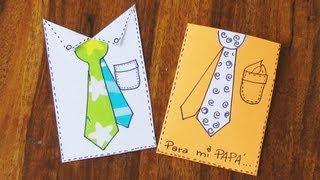 Manualidad - Tarjeta para el día del padre - Manualidades para todos