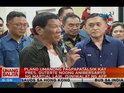 Plano umanong pagpapatalsik kay Pres. Duterte noong anibersaryo ng Martial Law, isiniwalat ng AFP