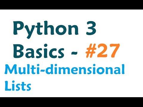 Python 3 Programming Tutorial - Multi-dimensional List - YouTube