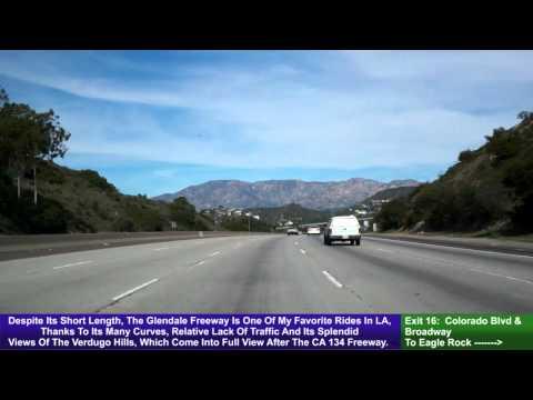 CA 2, Glendale Freeway, Los Angeles To La Cañada Flintridge