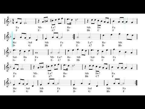 Tango - Latin backing track - Yesterday (Sheet music - Guitar chords)