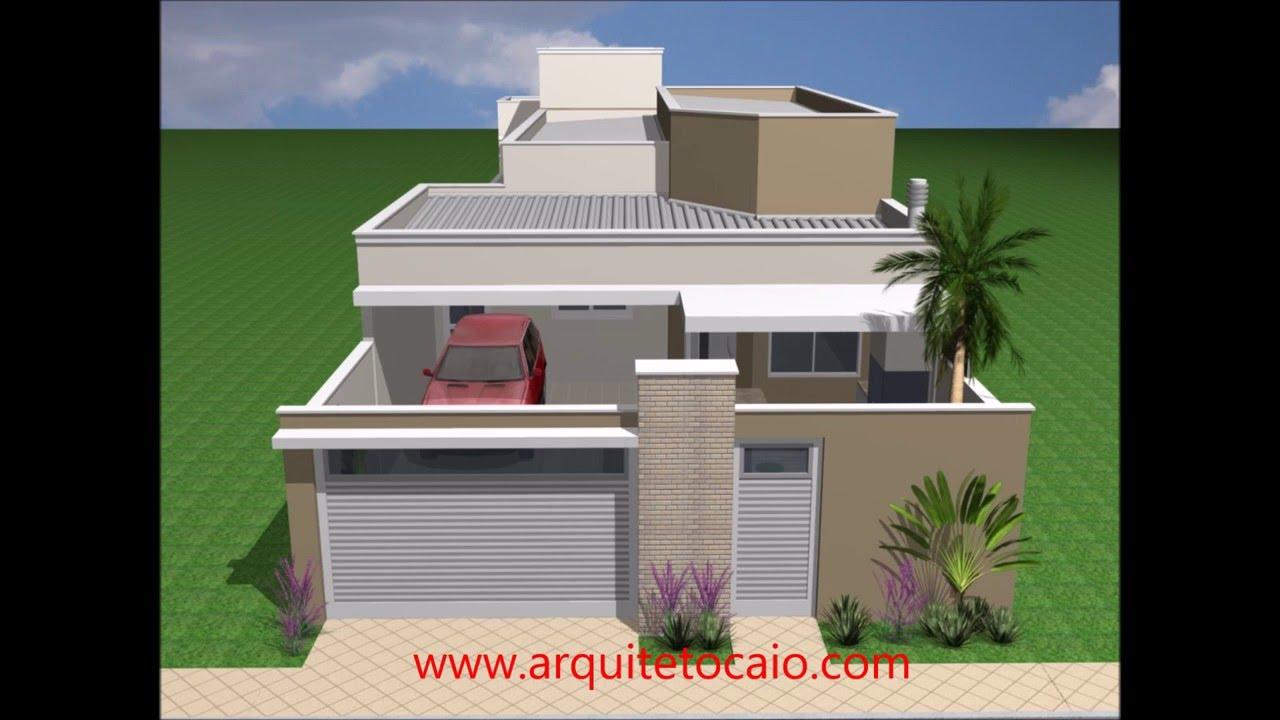 Casa terrea 3 quartos youtube for Fachadas de casas modernas de 2 quartos
